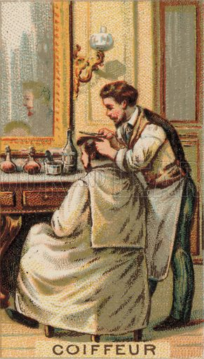 Man having a haircut at a barber's shop
