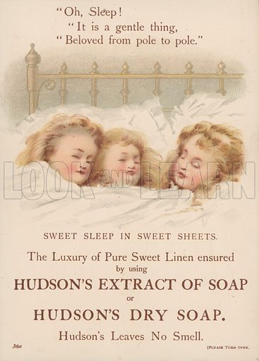 Trade card for Hudson's soaps.