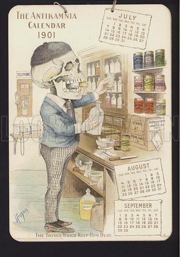 Illustration for Antikamnia Calendar, 1901.