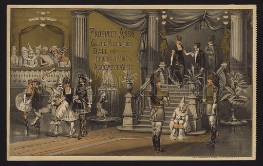 Prospect Association grand masked ball at the Academy of Music, New York, 31 January 1884.