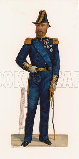 HRH Admiral the Duke of Edinburgh. Alfred, Duke of Saxe-Coburg and Gotha (1844-1900), second son of Queen Victoria and Prince Albert.