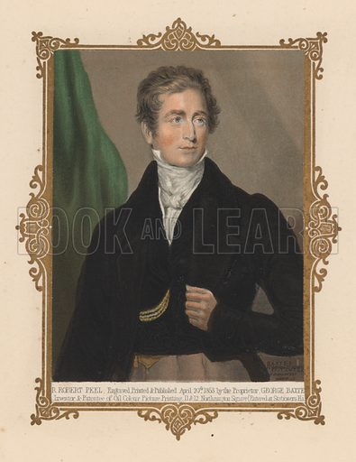 Sir Robert Peel (1788–1850), British politician and twice Prime Minister.