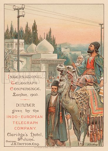 Dinner given by the Indo-European Telegraph Company at Claridge's Hotel, London,during the International Telegraph Conference, 9 June 1903.