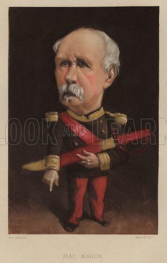 Patrice de MacMahon (1808–1893), Duke of Magenta, French general and statesman. Illustration from Vingt Portraits Contemporiens par Andre Gill (M Magnier et Cie, Paris, 1886).