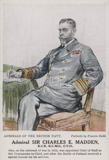 Admiral Sir Charles E Madden. One of a series of portraits of admirals of the British Navy.