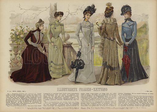 Illustration for Illustrirte Frauen-Zeitung, 1 March 1900.
