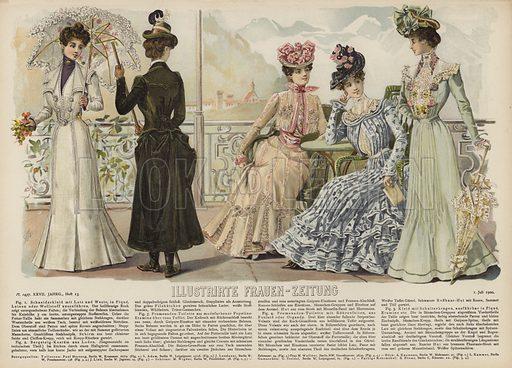 Illustration for Illustrirte Frauen-Zeitung, 1 July 1900.