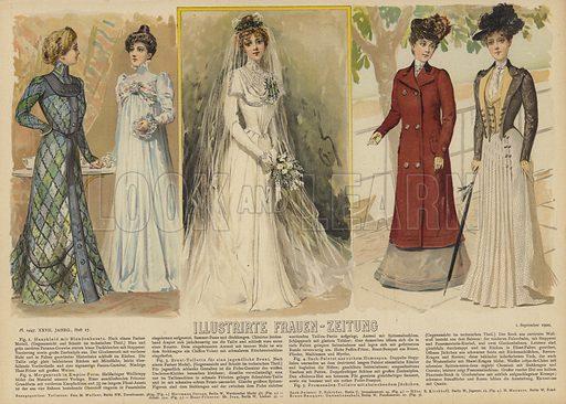 Illustration for Illustrirte Frauen-Zeitung, 1 September 1900.