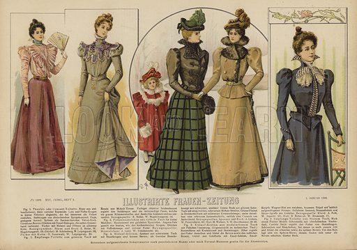 Illustration for Illustrirte Frauen-Zeitung, 1 January 1898.