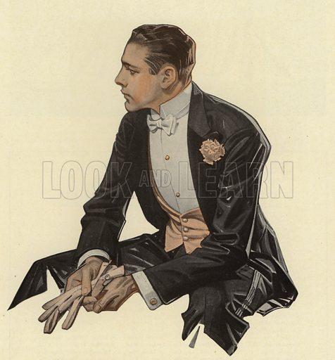 Arrow Shirts advertisement, Handsome man waiting