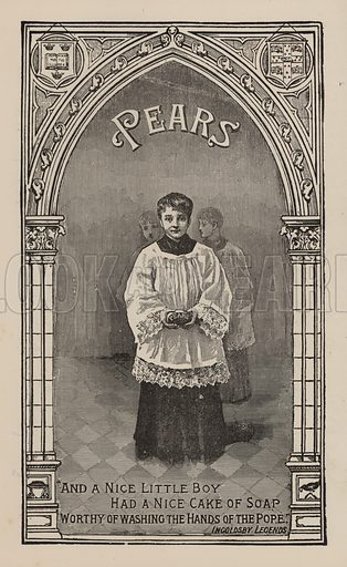 Choirboy: advertisement for Pears' soap
