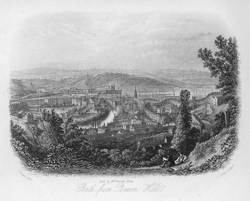 Bath from Beacon Hill. Writing Paper.