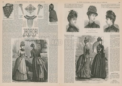 Page from La Mode Illustree, published in Paris, France in 1885.