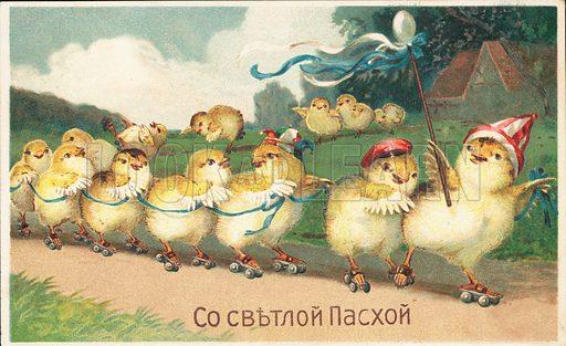 Chicks on rollerskates