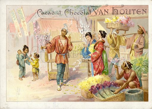 Chinese flower vendors.