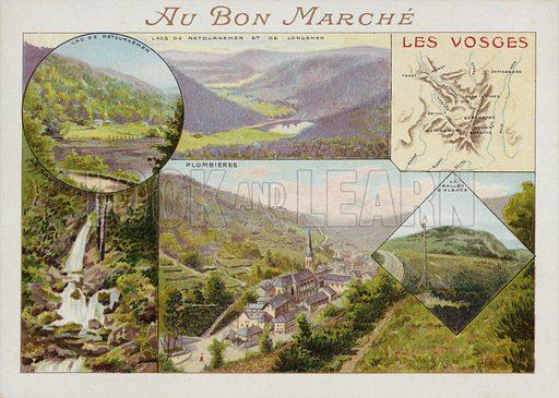 Les Vosges, card.