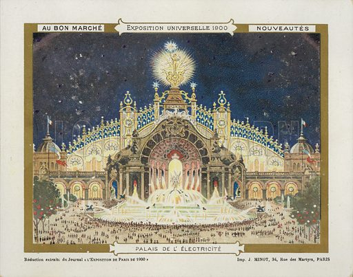 Exposition Universelle 1900 Electricity.