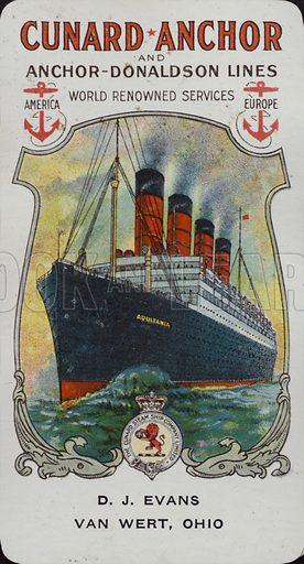 Cunard Ship - Aquitania.