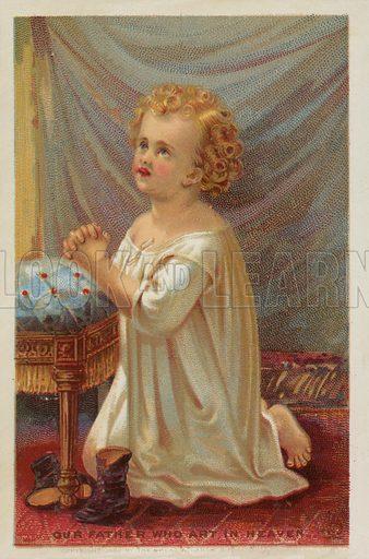 Young Girl Saying Prayers