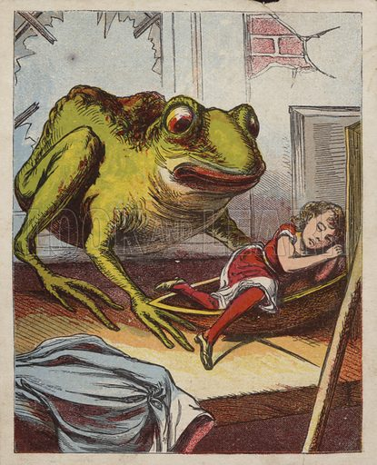 Toad Finds Sleeping Girl.