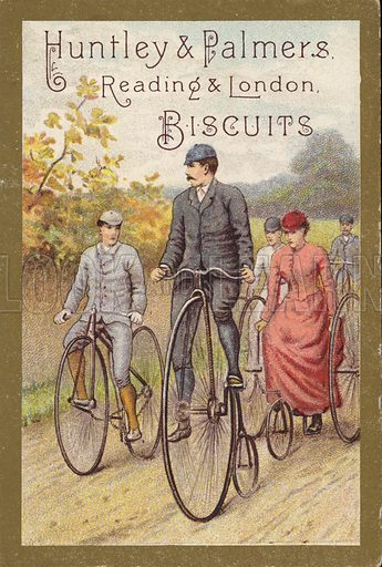 Riding bicycles in countryside
