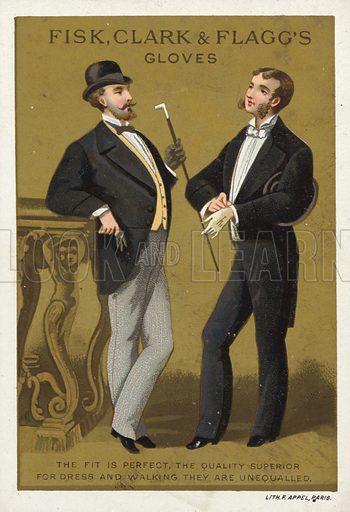 Gentlemen Talking, Advert for Gloves.