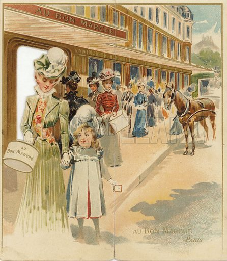 Shoppers Outside Department Store
