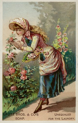 GIrl Smelling The Roses