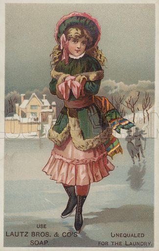 Girl Ice Skating.