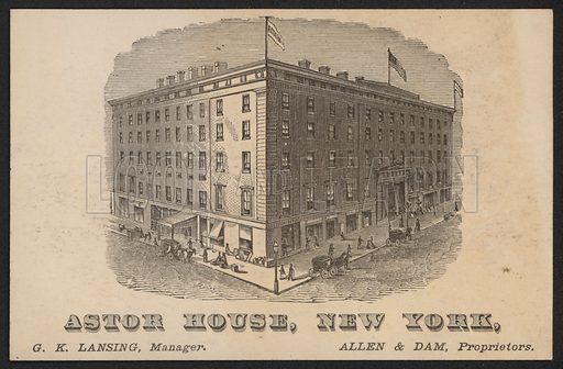 Astor House, New York, USA