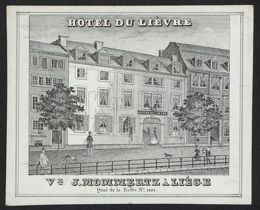 Hotel Du Lievre, J Mommertz, Liege.