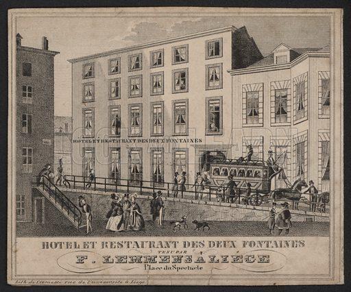Hotel Et Restaurant Des Deux Fontaines, F Lemmens, Liege