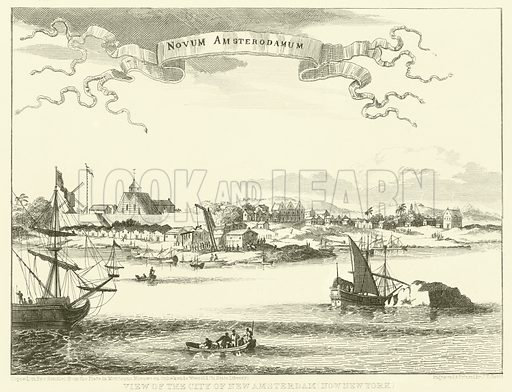 View of the City of New Amsterdam, now New York.
