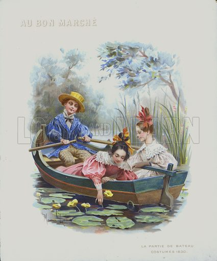 Boating, costumes of 1830