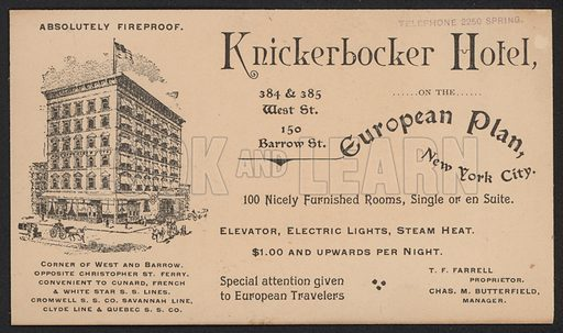 Hotel Trade Card