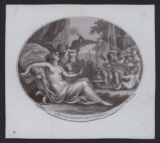 Benefit ticket for Italian violinist, composer and opera impresario Felice de Giardini, 1770s-1780s.