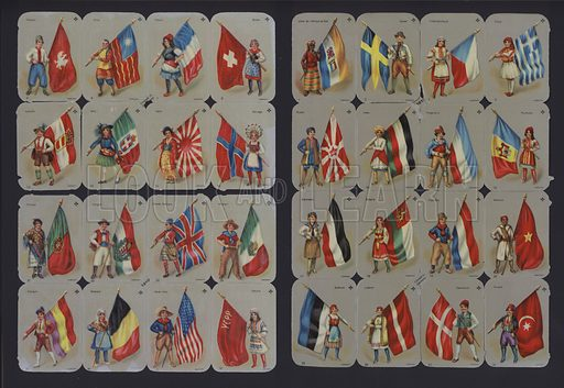 Costumes and flags of the World.