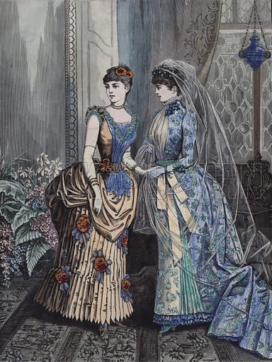 Women's fashions, late 19th Century.