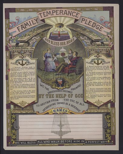Family temperance pledge.
