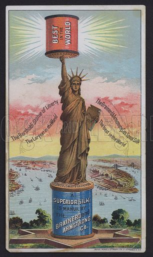 Statue of Liberty, Brainerd and Armstrong, Spool Silk.  Trade card.
