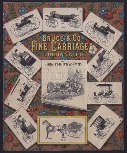 Bruce & Co, Fine Carriages, Cincinnati.  Trade card.