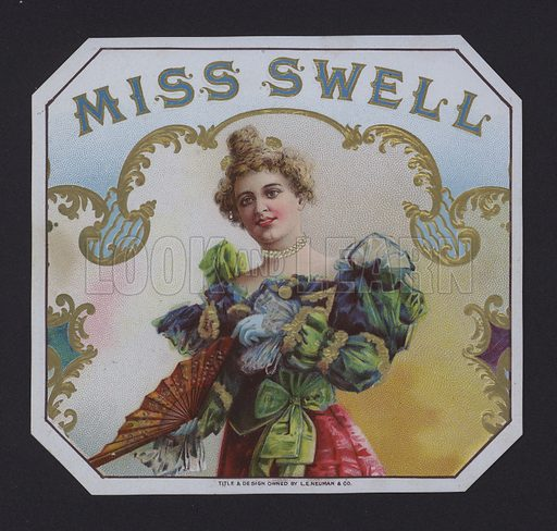 Miss Swell, cigar label