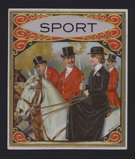 Sport, cigar label