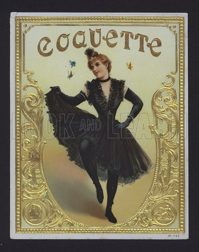 Coquette, cigar label