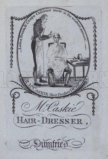 McCaskie hairdresser of Dumfries, advertisement