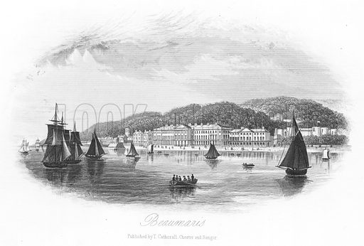 Beaumaris. Illustration for Views in North Wales (T Catherall, c 1850).