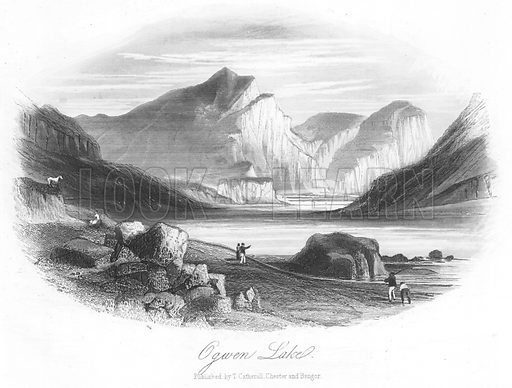 Ogwen Lake. Illustration for Views in North Wales (T Catherall, c 1850).
