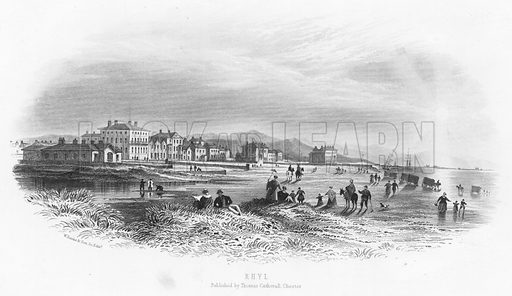 Rhyl. Illustration for Views in North Wales (T Catherall, c 1850).