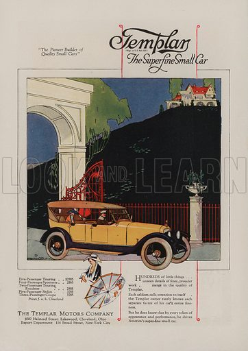 Templar. American car advertisement. For editorial use only.