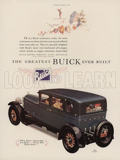 Buick. American car advertisement. For editorial use only.